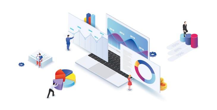 rapports et suivi en communication web et print